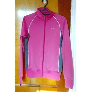 Pink and Gray Nike Zip-up